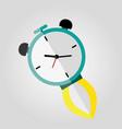 clock rocket icon eps 10 vector image