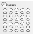 Cloud icons big set vector image