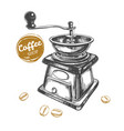 coffee grinder concept vector image vector image