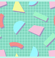 colorful seamless trendy pattern with creative vector image