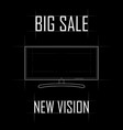 contour drawing of the monitor a big sale a new vector image vector image
