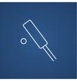 Cricket line icon vector image vector image