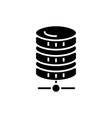 database network icon black vector image vector image