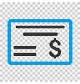 Dollar Cheque Icon vector image vector image