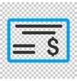 Dollar Cheque Icon vector image