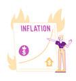 economy crisis inflation statistics vector image vector image