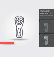 electric shaving machine line icon with editable vector image vector image