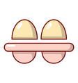 fresh eggs icon cartoon style vector image