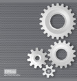 gears with on the gear on perforated meta vector image vector image