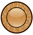gold zodiac vector image vector image