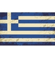 Greek flag Grunge background vector image vector image