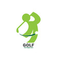 green abstract golf logo vector image vector image