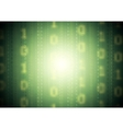 Green binary system code background vector image