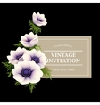 Greeting card with anemone flower vector image
