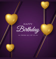 happy birthday celebration typography design for vector image vector image
