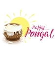 Happy Pongal lettering text for greeting card vector image vector image