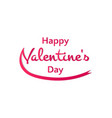 happy valentines day words with a ribbon on a vector image