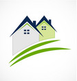 houses with beam rooftops real estate icon vector image