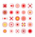 hurt red circles vector image vector image