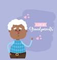 i love my grandparents card design vector image