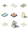 isometric picture frames vector image