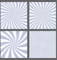 Light purple spiral and ray burst background set vector image vector image