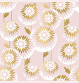 luxury style chrysanthemum flowers pattern vector image vector image