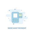 merchant payment line concept simple line icon vector image