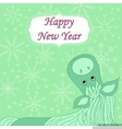 new year background with hourse vector image
