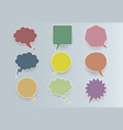 paper colored communication bubbles vector image vector image