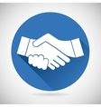 Partnership Symbol Handshake Icon Template vector image vector image