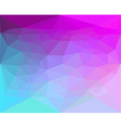 Polygon abstract pattern background in flat color vector image vector image