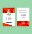 red id card 20 vector image vector image
