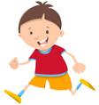running boy cartoon character vector image vector image