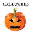 scary halloween pumpkin face monster mouth and vector image