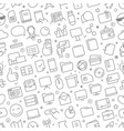seamless pattern of different web icons set vector image vector image