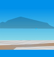 seaside view mountains and water sea vector image vector image