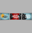 set banners for black friday sale vector image vector image