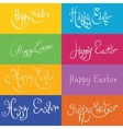 set of hand drawn typograhy Happy Easter vector image vector image