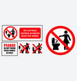 set sanitary sign vector image vector image