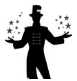 silhouettes master ceremonies with mustache vector image