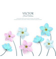 spring white flowers with stems poster vector image vector image