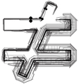 Technical typography symbol vector image vector image