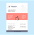 template layout for bug comany profile annual vector image vector image