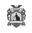 texas battleship badge grayscale vector image vector image