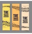 Tire tracks background vector image vector image
