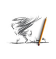 tornado concept hand drawn isolated vector image
