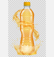transparent plastic bottle with water crown vector image vector image