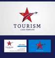 travel china flag creative star logo and business vector image