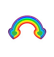 two heart rainbow very cool is when we actually vector image vector image